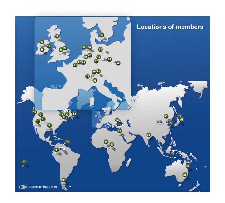 World Map Of Members - Step 2014